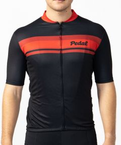 Pedal Short Sleeve Jersey Black Red
