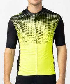 Pedal Short Sleeve Jersey Black Lime