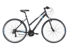Pedal Raven Women's Hybrid Bike Black/Blue