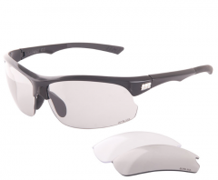 Jet Black Jetstream Eyewear [Photochromic SMK & Clear Lens] (Black) | 99 Bikes