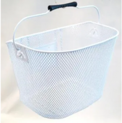 Front Basket Wire Mesh White Easy to Take Off