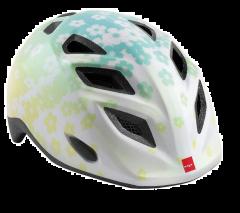 MET Elfo/Genio White Flowers/Glossy Stars Girls Helmet