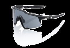 100% Speedcraft Smoke Lens Sunglasses Soft Tact Black