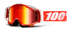 100% Racecraft Goggles Fire Red