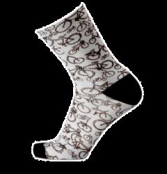 MB Wear Fun Bike Socks White