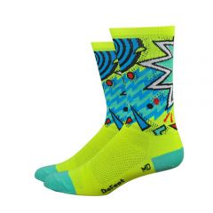 "Defeet Aireator 6"" Cycling Socks Hi Viz Shazam"