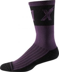 "FOX Trail Cushion 8"" Socks Dark Purple"