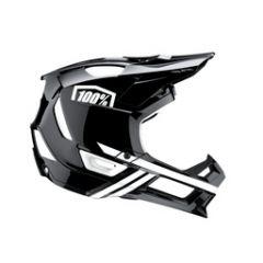 Helmet Fullface 100% Trajecta w Fidlock Black/White