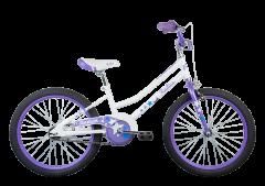 Radius Starstruck 20 Girls Bike Gloss Pearl White/Lavender Blue (2020)