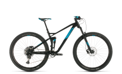 Cube Stereo 120 Pro 29 Mountain Bike Black/Blue (2020)