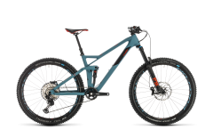 Cube Stereo 140 HPC Race 27.5 Mountain Bike Bluegrey/Red (2020)