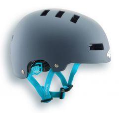 Blue Grass Super Bold Helmet Grey/Cyan
