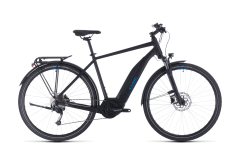 Cube Touring Hybrid ONE 500 Electric Mountain Bike Black/Blue (2020)