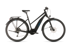 Cube Touring Hybrid ONE 500 Trapeze Electric Hybrid Bike Black/Blue (2020)