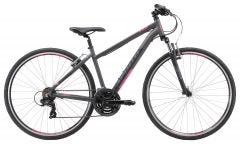 Apollo Transfer 10 Women's Hybrid Bike Matte Charcoal/Matte Black/Matte Pink (2019)