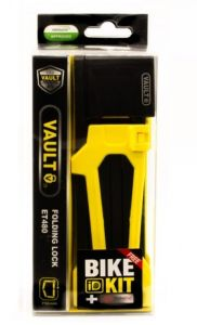 Lock Vault Folding Key Yellow 750 x 4 w Bike ID Kit