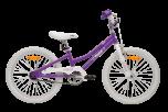 Pedal Bam Girls Bike 20 Inch Purple/White