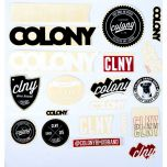 Colony Sticker Pack, 19 pieces/stickers