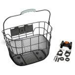 Basket Front Wire Mesh QR Black