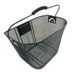Wire Mesh Front Basket with Adjustable QR Black