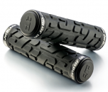 Jet Black Rivet Lock On Grips [w/Rings] (Black) | 99 Bikes