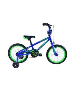 Radius Dinosaur 16 Inch Kids Bike Gloss Navy Blue/Neon Green (2019)