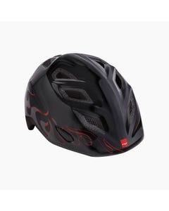 MET Elfo/Genio Black Flames Boys Helmet