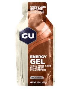 GU Gel (Chocolate Outrage) [w/CAFFEINE] | 99 Bikes