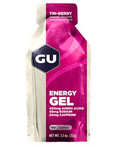 GU Gel (Tri Berry) [w/CAFFEINE] | 99 Bikes