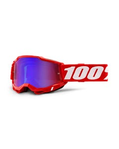 Goggles 100% Accuri 2 Red - Mirror Red/Blue Lens