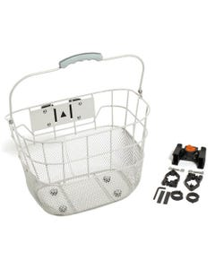 Front Wire Mesh Basket QR White