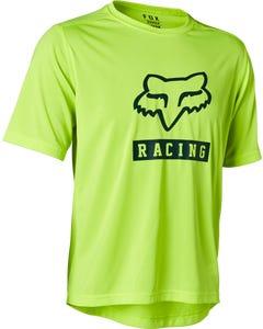 FOX Ranger Youth Short Sleeve Jersey Fluorescent Yellow 2021