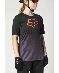 FOX Flexair Short Sleeve Women's Jersey Black/Purple