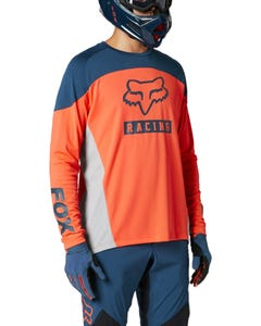 FOX Defend Long Sleeve Jersey Atomic Punch