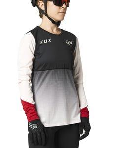 FOX Flexair Long Sleeve Women's Jersey Black/Pink