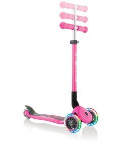 Scooter Kids Globber Primo Foldable Lights Deep Pink