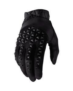 100% Geomatic Full Finger Gloves Black
