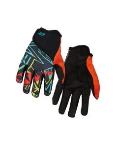 Giro DND Full Finger Youth Gloves Black Blast