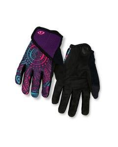 Giro DND Full Finger Youth Gloves Purple Blossom