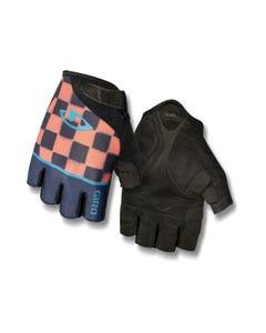Giro Jagette Short Finger Women's Gloves Checkers Midnight/Peach