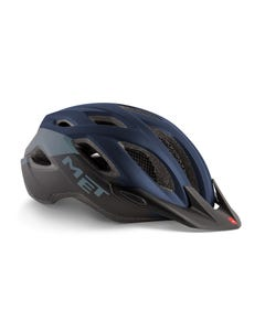 MET Crossover Helmet Blue Black/Matt
