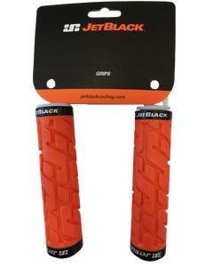 Jetblack Rivet Lock On Grips Orange/Black Rings