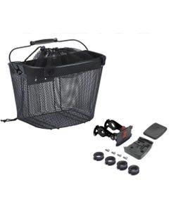 Azur E-Bike Front Basket with QR