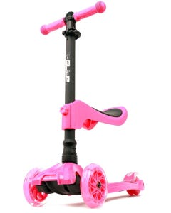 I-Glide with Lights and Seat Kids Scooter Pink