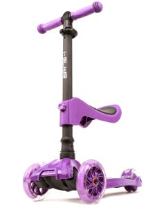 I-Glide with Lights and Seat Kids Scooter Purple
