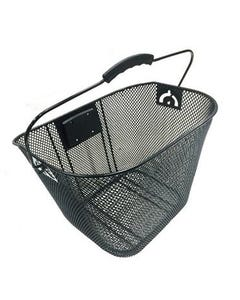 Wire Mesh Front Basket with Adjustable QR Black