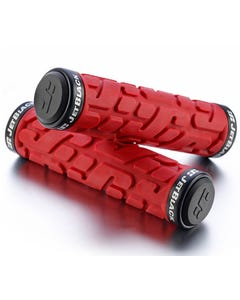 Jet Black Lock On Grips [w/Rings] (Black/Red)  | 99 Bikes