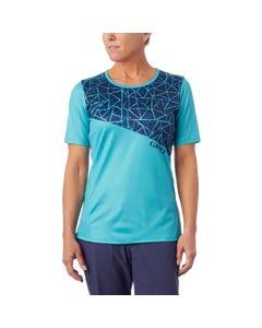 Giro Roust MTB Women's Short Sleeve Jersey Ocean Blue/Aqua Blue