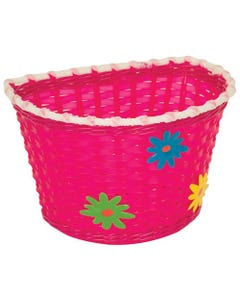 Kids Basket with Green, Blue & Yellow Flowers | 99 Bikes