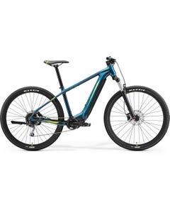 Merida eBig Nine 400 Electric Mountain Bike Teal Blue/Lime (2021)